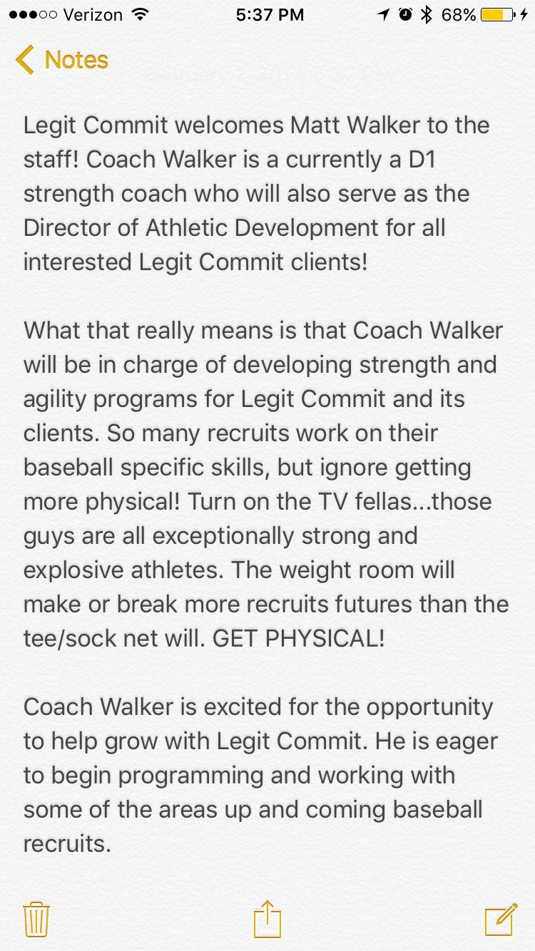 Coach Walker Is Currently A D1 Strength Will Develop All SC Programs Tco WL9LNZNeZ0