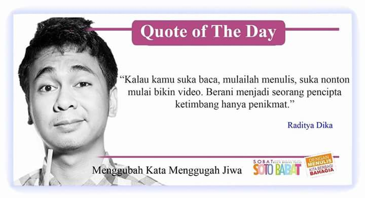 komunitas soto babat على تويتر quote of the day qotd dari bang
