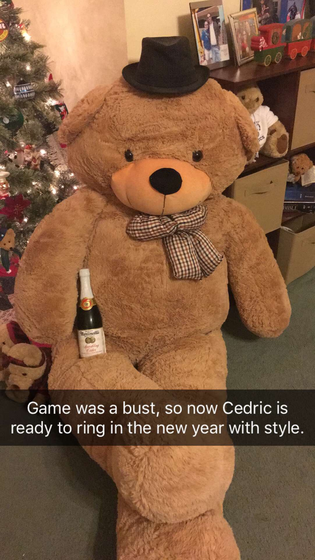 Tessa from SC. I'm on my way to bed, so won't be around for the rest, but my favorite bear is Cedric the Giant Teddy Bear. #weirded https://t.co/DpFar23m8g