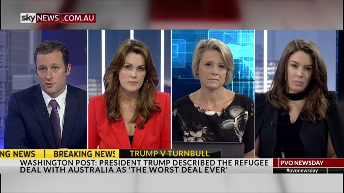 Sky News sources say Donald Trump was 'yelling' during his phone conversation with PM Turnbull and hung up after 25 minutes