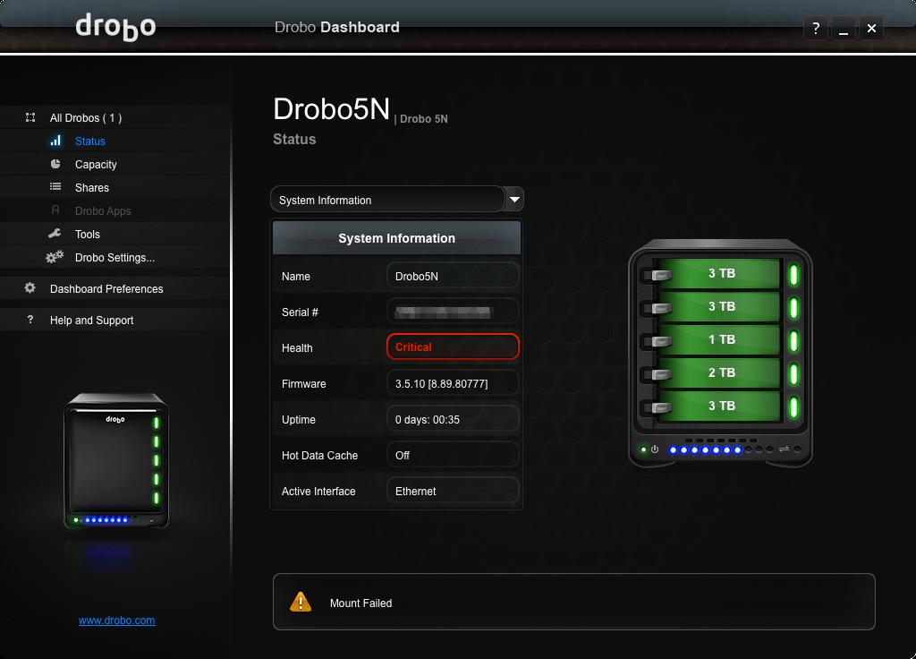The drobo 5n2 nas vs the drobo 5n nas old versus new drobo.