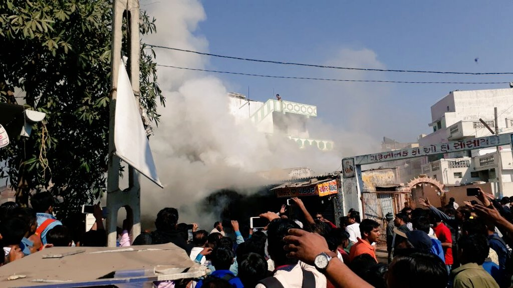 One dead, 3 injured, five vehicles damaged in fire in fire-cracker shop in Anand