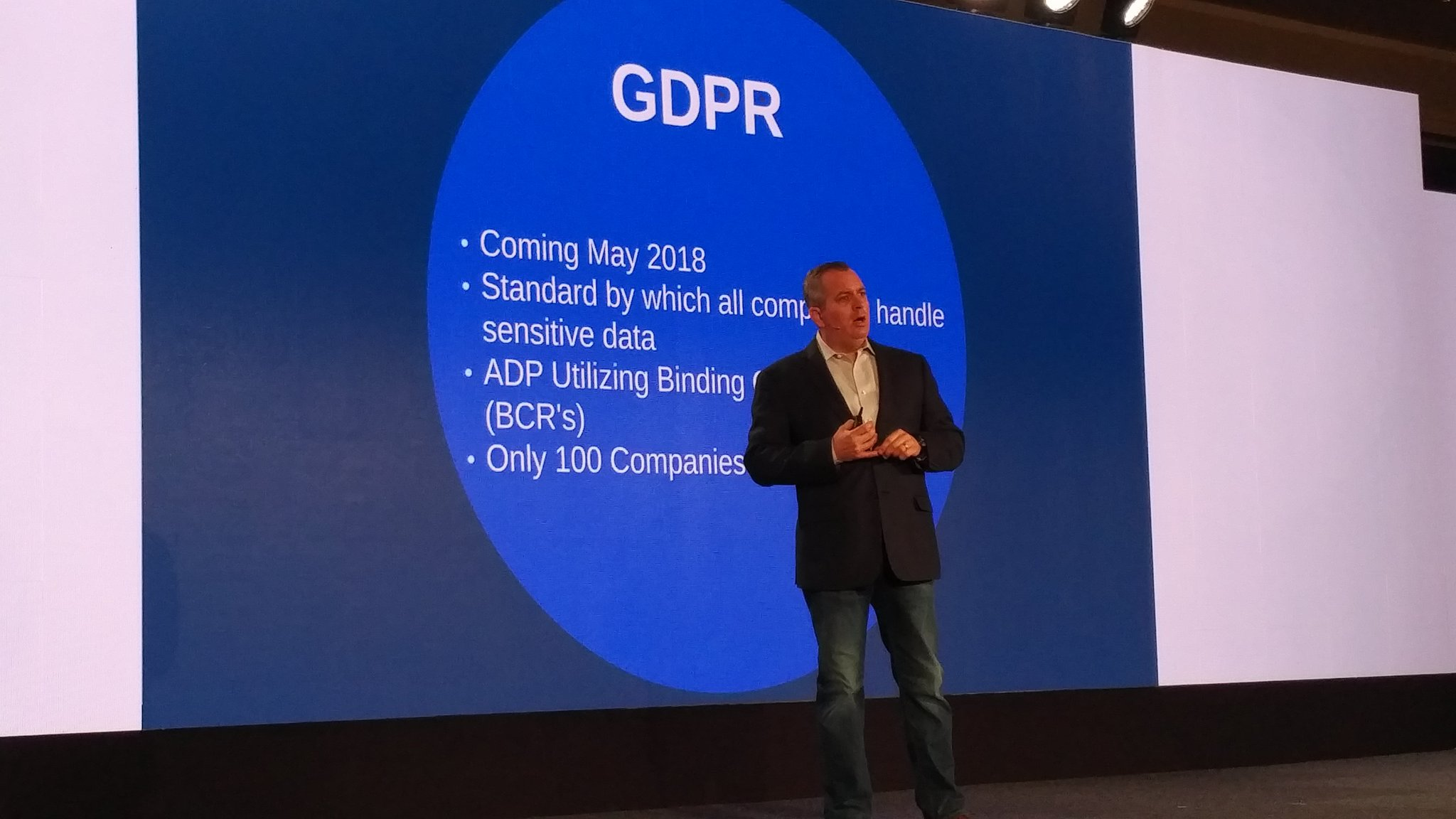 GDPR is coming says @ADP Cloutier #ADPReThink https://t.co/1ybtXCGtgC