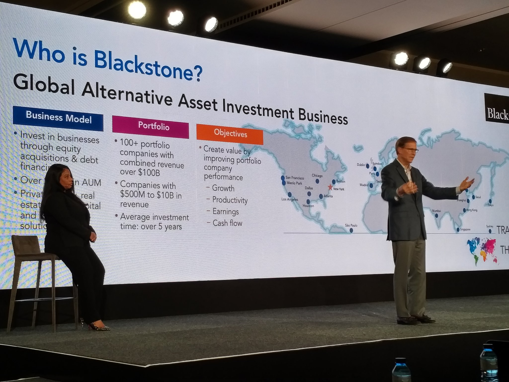 Next up @blackstone Beutler and Lara on their 6 year @ADP story -  97 companies using ADP - 330k employees #ADPReThink https://t.co/byFu2wn5rL