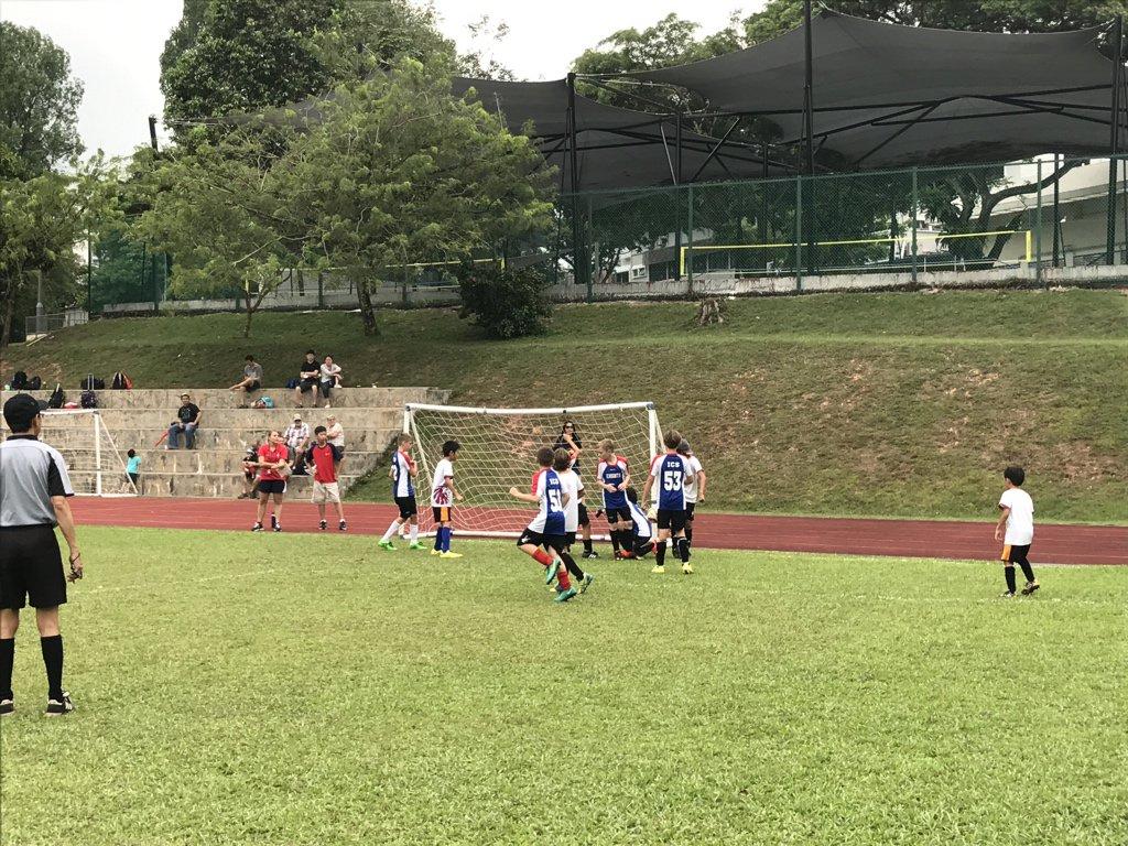 ACSIS U11 Football - @ISSsingapore 1-1 @ICSelementaryPE - 🥅 Jake (last minute) #isspride https://t.co/60trh1Di7l
