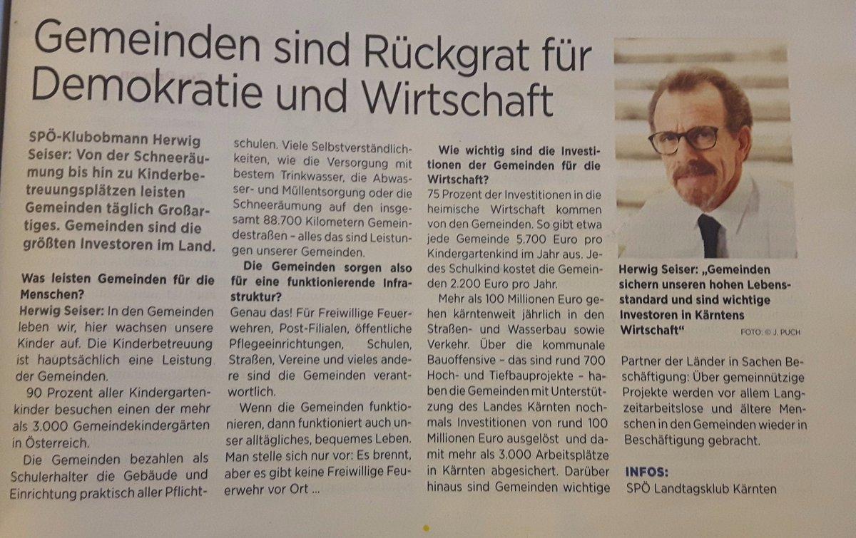#LTKaernten H.Seiser: Die #Gemeinde ist #Heimat zum Angreifen! https:/...