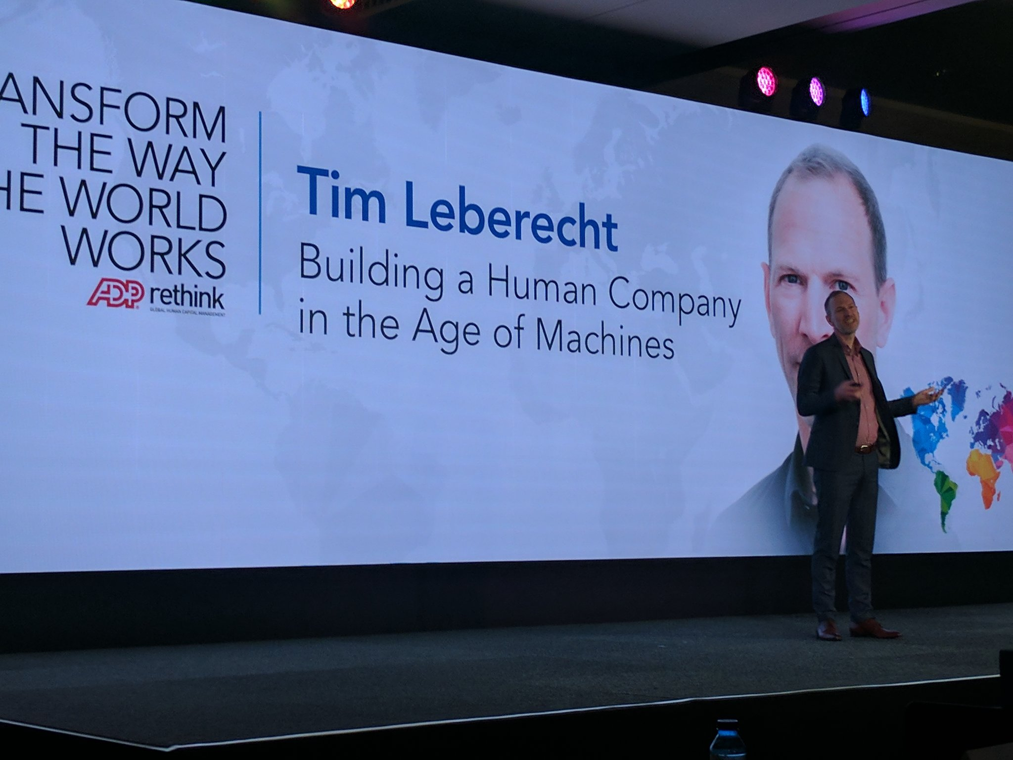 Next up -  @timleberecht on Building a Human Company in the Age of Machine #ADPReThink https://t.co/Co3KKFUiQO