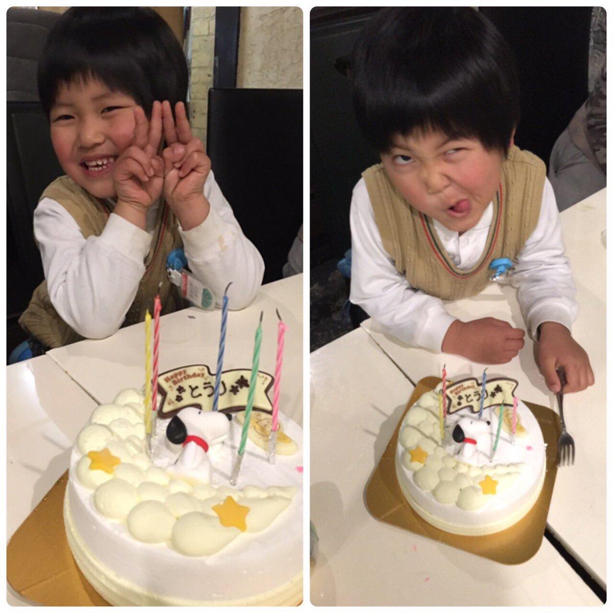 橙利の5才の誕生日! キャンプから帰ってきて念願のアイスケーキを買ってお祝いしました! しかし、クセ…