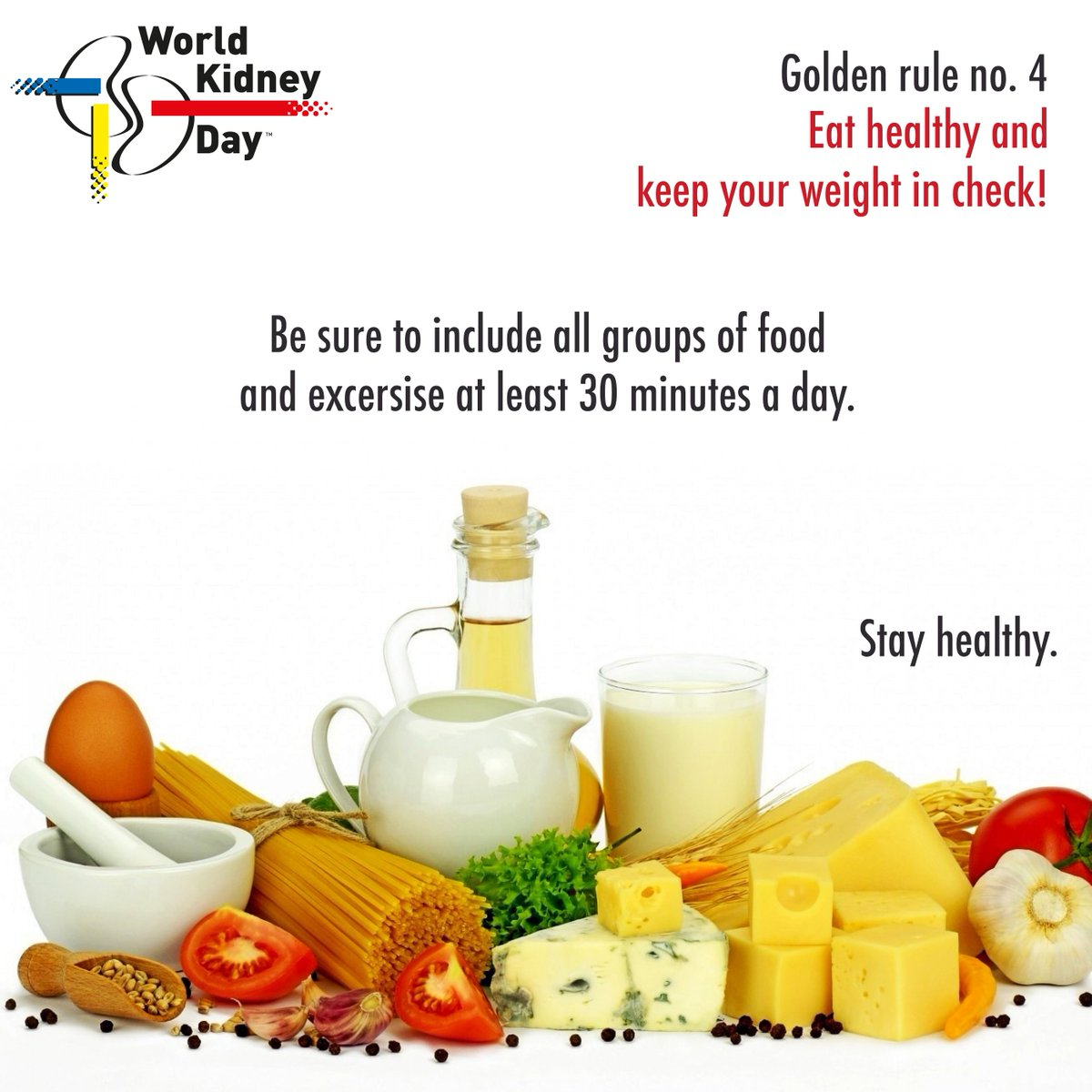 Ifkf On Twitter Do You Know That Proper Nutrition And Exercise Are Key To Prevent Kidney Disease Move4kidneys 8goldenrules