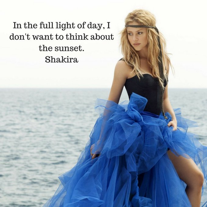Happy Birthday to the beautiful Shakira, who is 40 today.