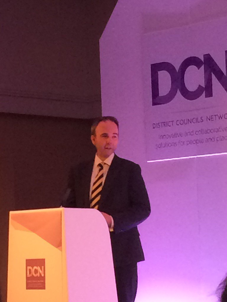 """District Councils will be key to government's strategy for delivering homes"" @GavinBarwellMP #DCNConf17"