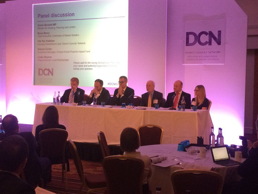 RT @districtcouncil #DCNconf17 expert #housing panel alongside @GavinBarwellMP @LP_localgov @fmbuilders