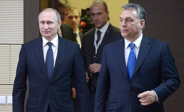 Vladimir Putin and Viktor Orban are negotiating behind closed doors, after, the two leaders released to the press
