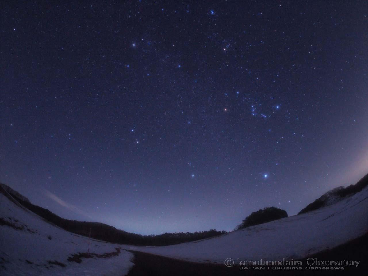 雪原の星空