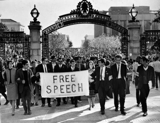 1964: Berkeley students march to demand free speech.  2017: Berkeley students riot to demand free speech be denied.