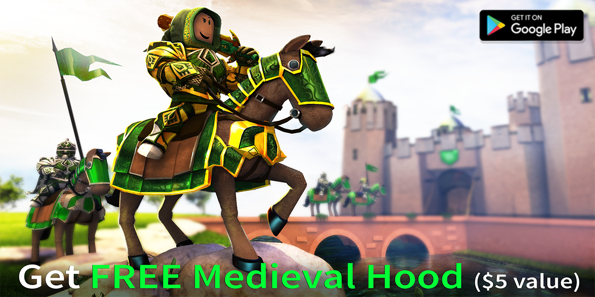Roblox On Twitter Exclusive Free Medieval Hood 5 Value Through