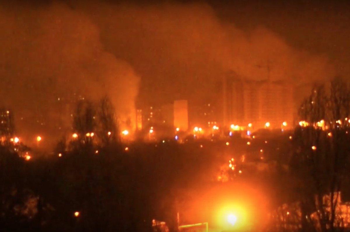 Бои под Донецком. 03.02.2017. Ночь