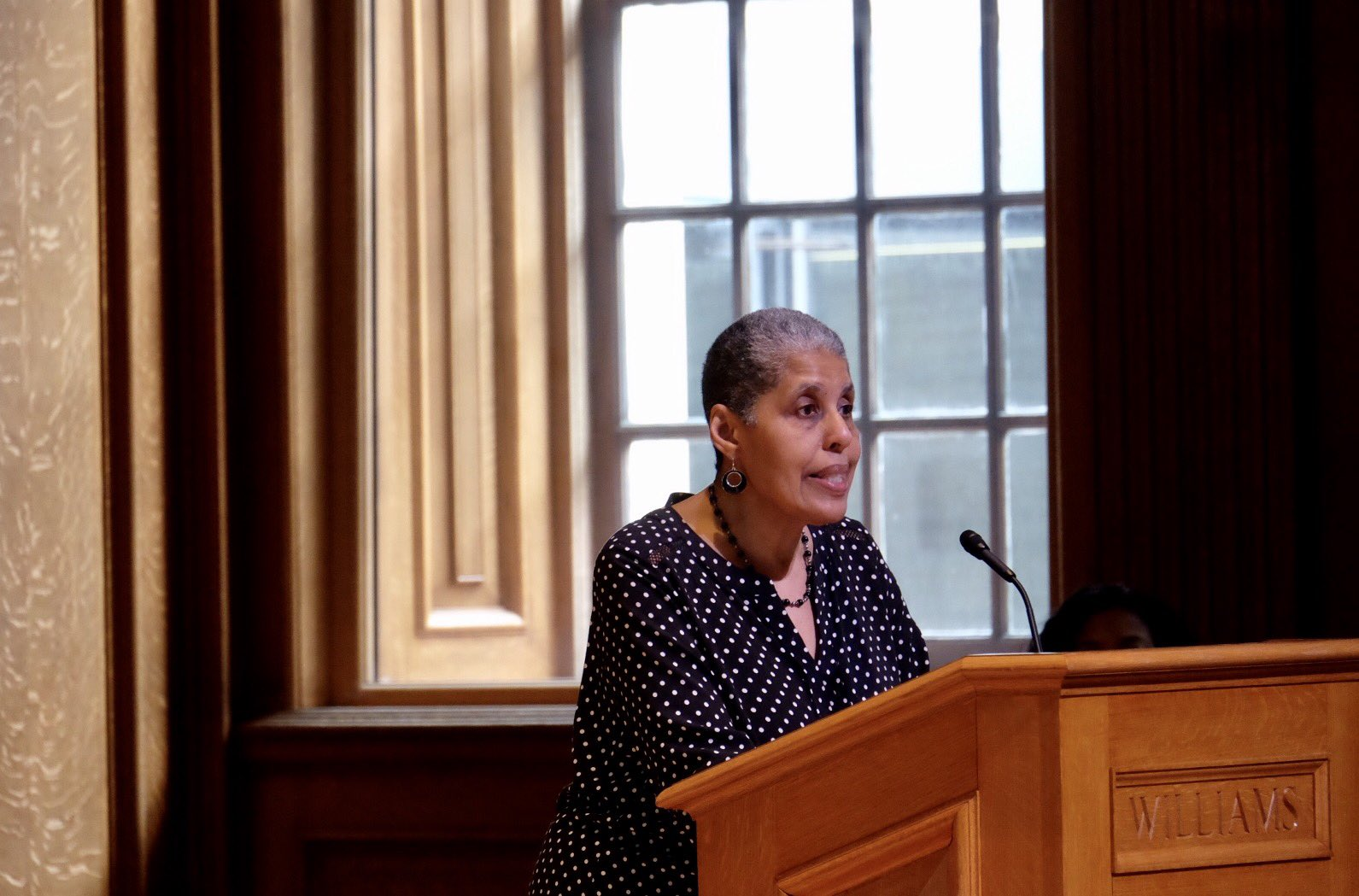 Barbara Smith speaks to students, faculty, and staff during #ClaimingWilliams @AintGonnaLet https://t.co/3i27ty6A9w