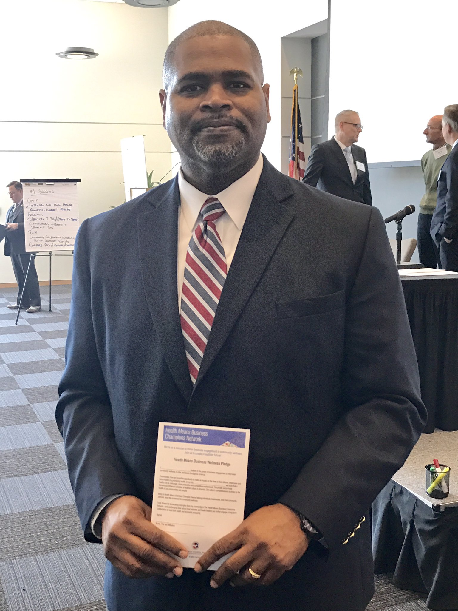 Thank you Reggie Taylor for taking the Health Means Business Wellness Pledge #Opportunity4Health @HealthMeansBiz https://t.co/IND2kYdmqQ