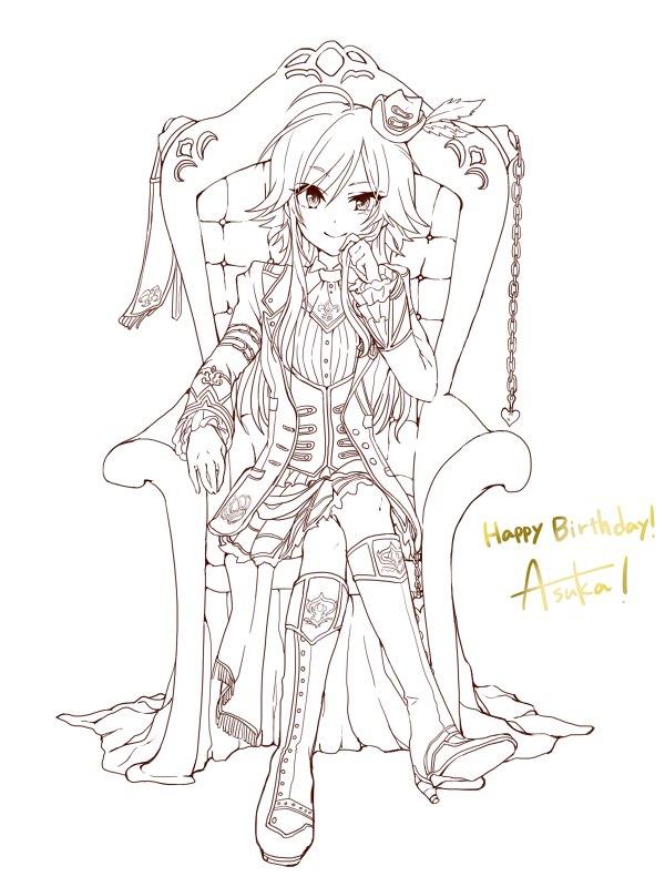 飛鳥誕生日おめでとう~~~!!!なかなか時間がとれないのでとりあえず線画だけでも・・・!!!ずっと大…