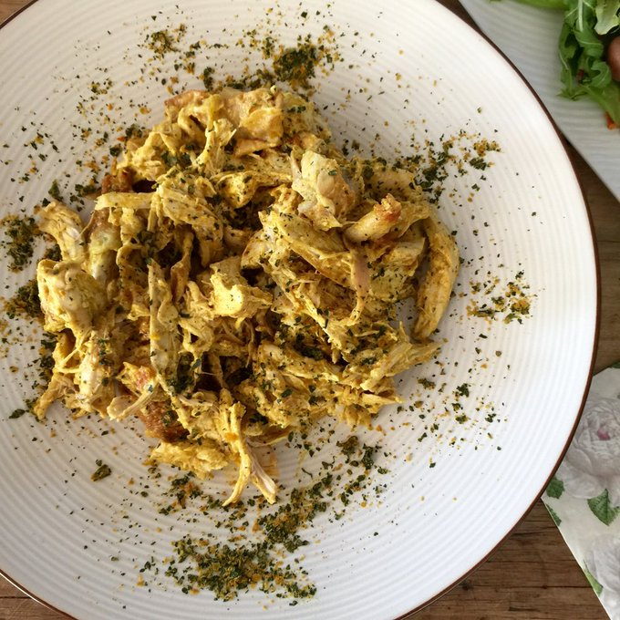 An Australia Day recipe, Coronation Chicken & Salad.