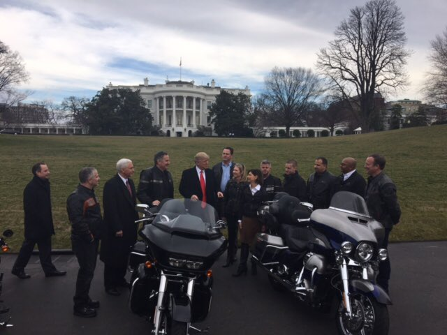 "president trump on twitter: ""great meeting with @harleydavidson"