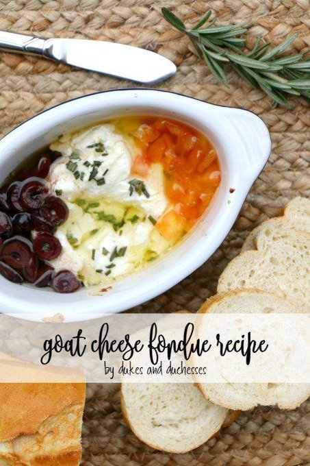 Goat Cheese Fondue Recipe