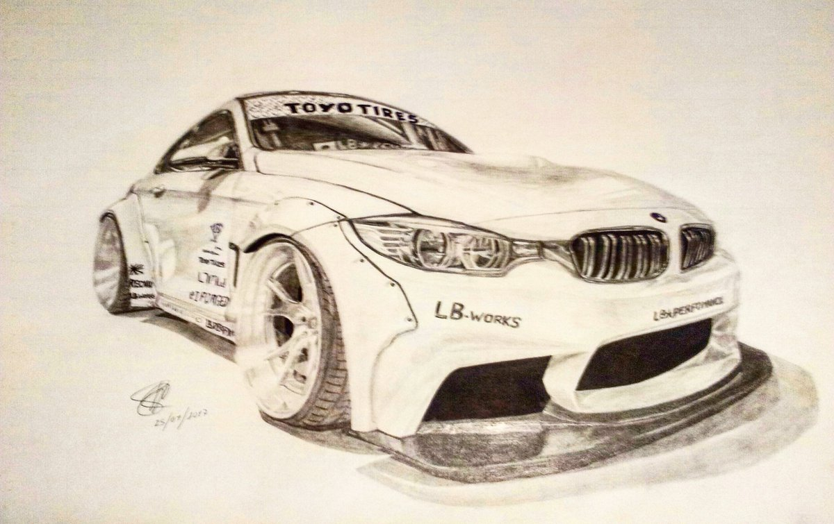 Cesar Jimenez On Twitter Bmw M4 Lb Works Drawing Art