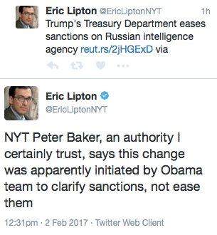 Fake News media: Trump didn't ease Russia sanctions, Obama did