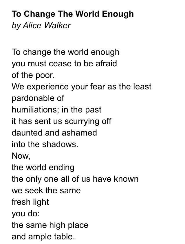 change the world poem