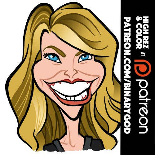 Feb 2: Happy birthday Christie Brinkley! Goodies at  Custom art at