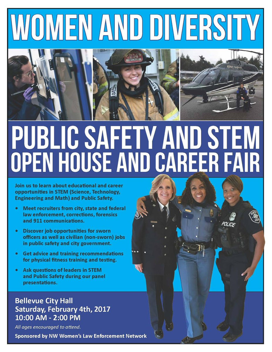 Interested in a career as a law enforcement officer or 911 dispatcher? Join us this Saturday at 11:30 AM at Bellevue City Hall from 10AM-2PM