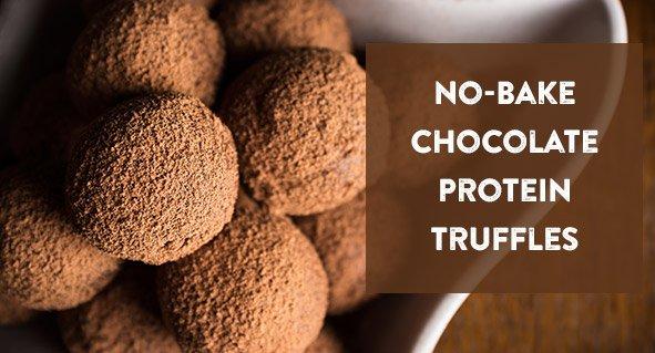 No-Bake Chocolate Protein Truffles