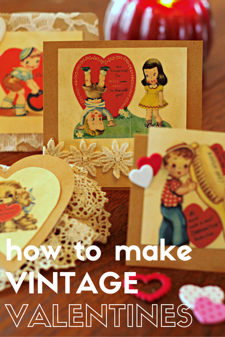 How to Make Vintage Valentine's Day Cards