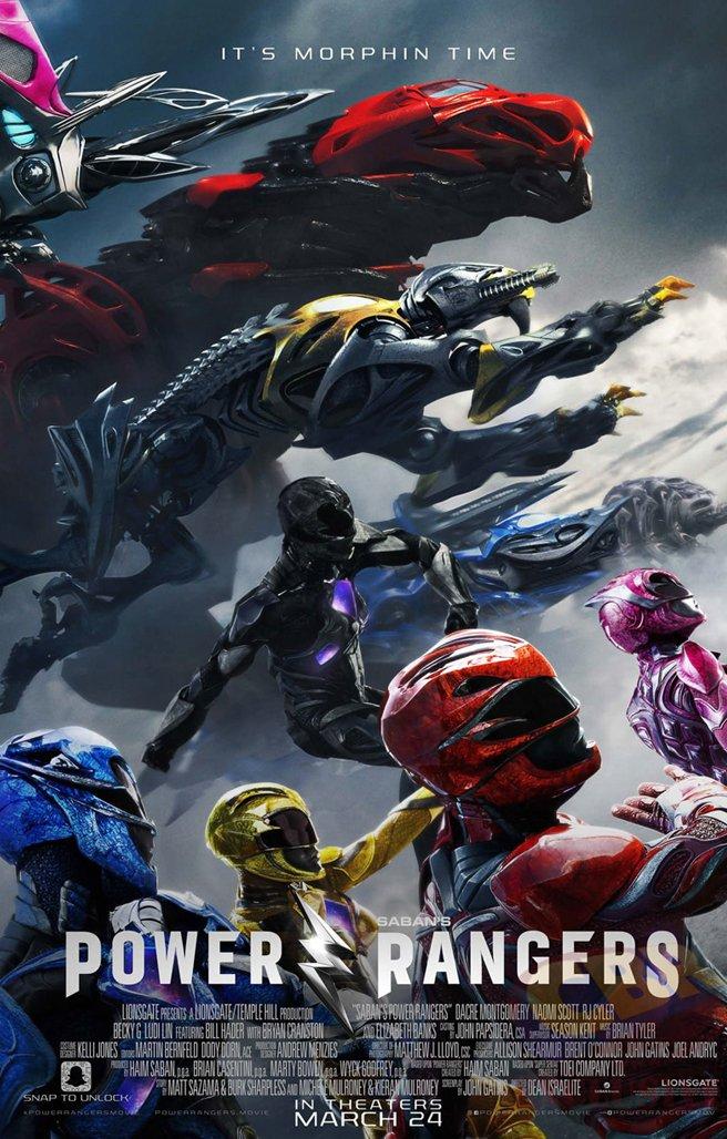 日本のスーパー戦隊ものをハリウッドが実写映画化した「パワーレンジャー」より新たなポスターが公開。5色…
