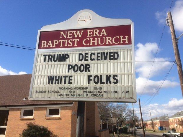 Pastor trolls Trump supporters with church sign https://t.co/d2r5Z6WxVg #alpolitics