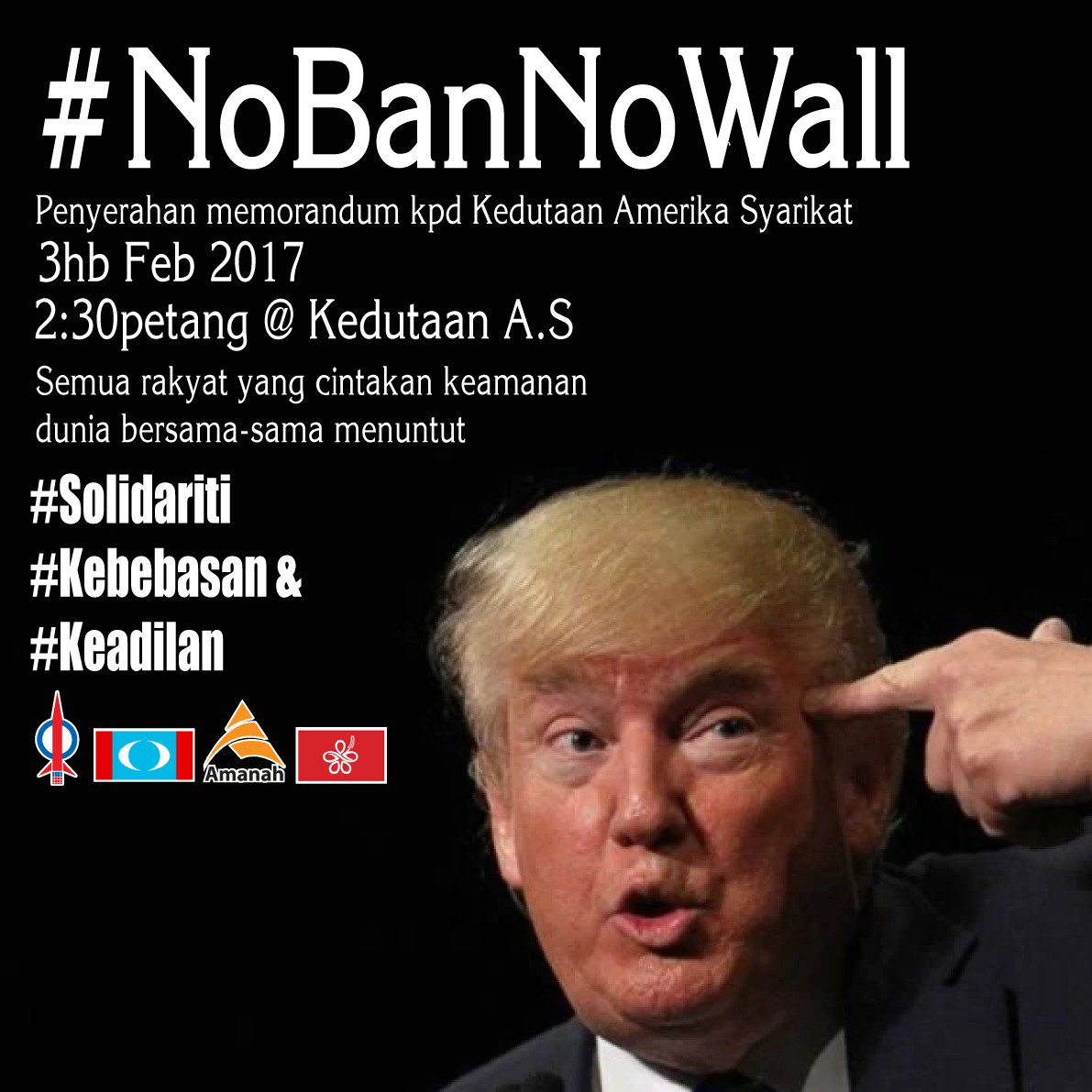 Malaysian anti-Trump poster