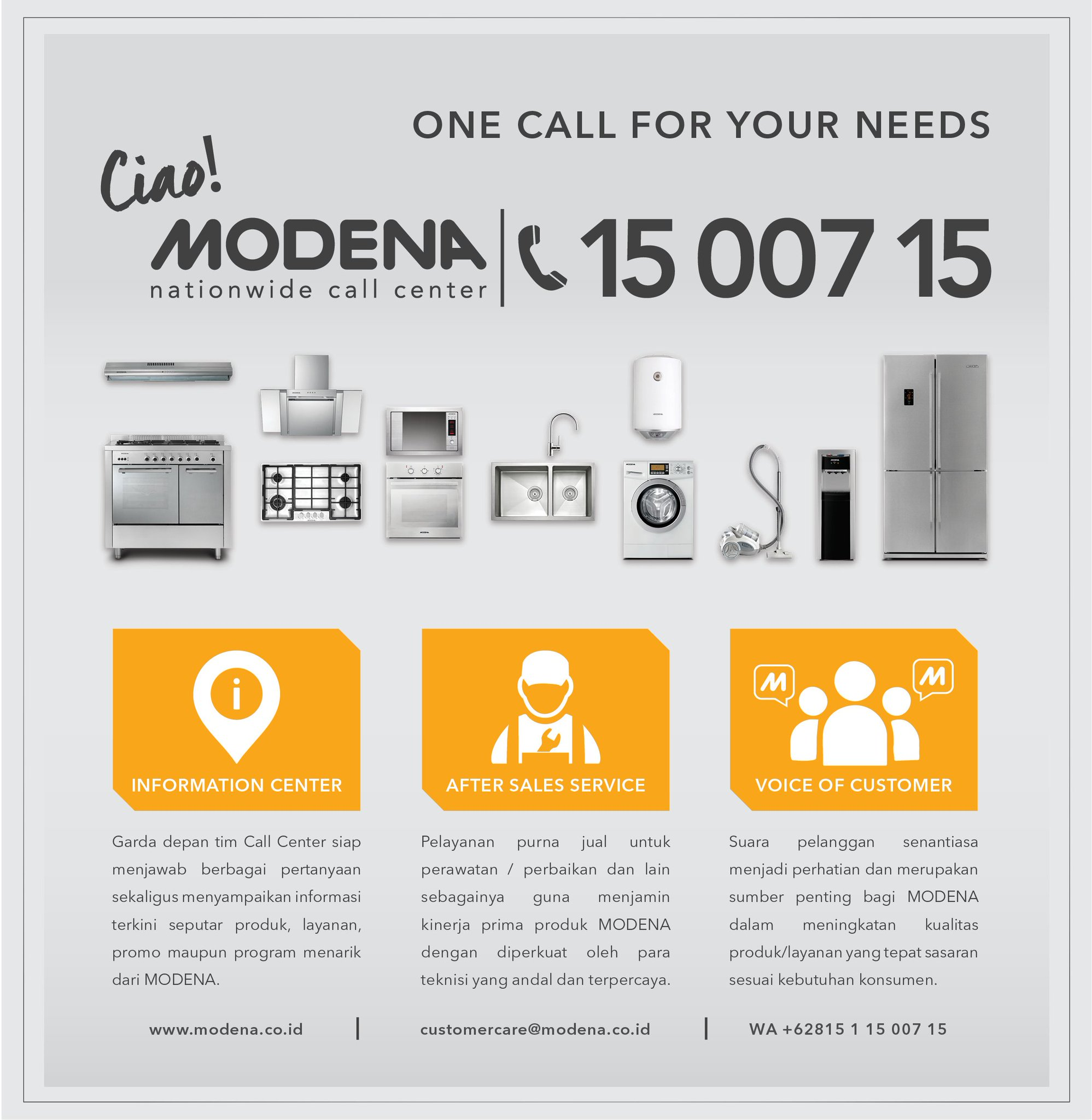 Modena Indonesia No Twitter Akhir Minggu Tepat Untuk Pengecekan Produk Modena Di Rumah Yuk Hubungi Call Center Modena 15 007 15 Untuk Penjadwalan Kunjungan Teknisi Https T Co Dsisdjuqjr