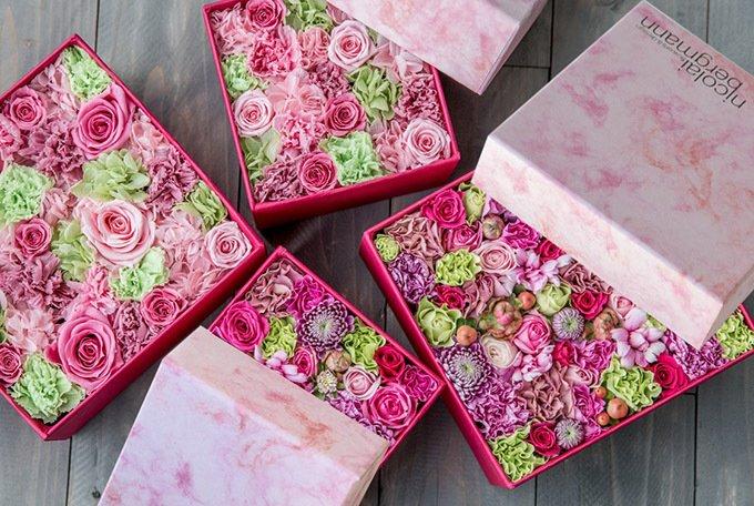 ニコライ バーグマンの春限定フラワーボックス、ピンク&グリーンの花々で春の空気感を fashion-…