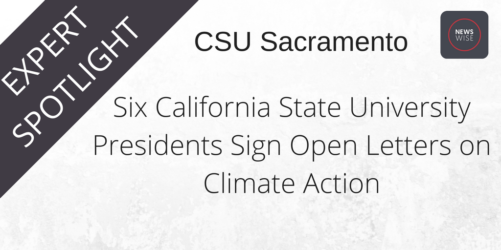 Six California State University Presidents Sign Open Letters on Climate Action @sacstate https://t.co/jnqZ0gfZIS https://t.co/bjn3cWVjGV
