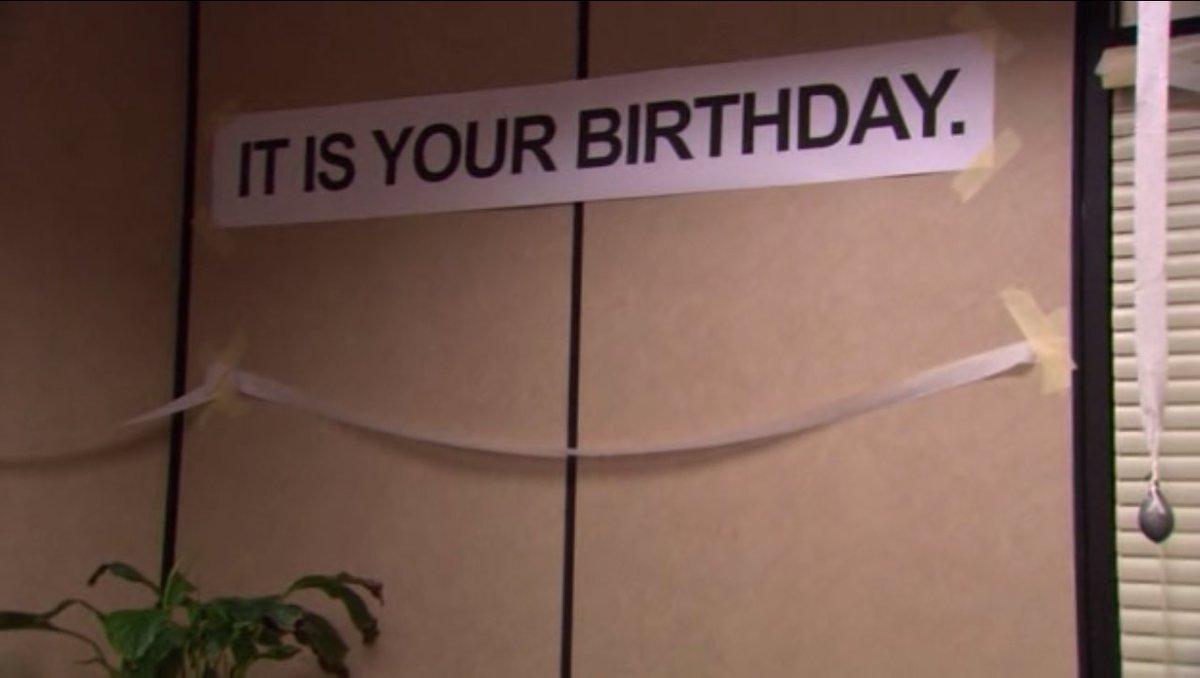 "rainnwilson on twitter: ""bensheltonfilms it is your birthday"""