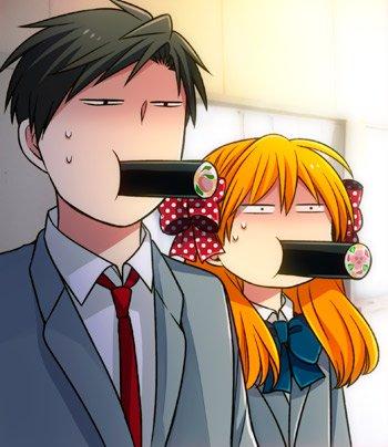 休み時間に廊下を通りかかったら 野崎と佐倉が恵方巻を食べていた。  今年は北北西を向いて食べるといい…