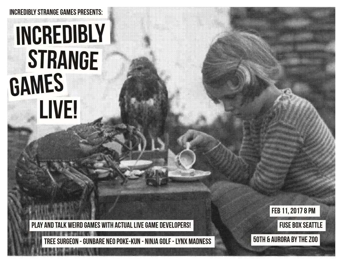 Chris Charla On Twitter Incredibly Strange Games Live 2 11 17 8pm Fuse Box Ads 21 Seattle Forget Your Troubles And Come Out Talk Play Weird Https Tco X6jslva2oh