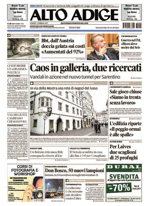 Altoadige quotidiano alto adige twitter for Necrologi defunti bolzano giornale alto adige