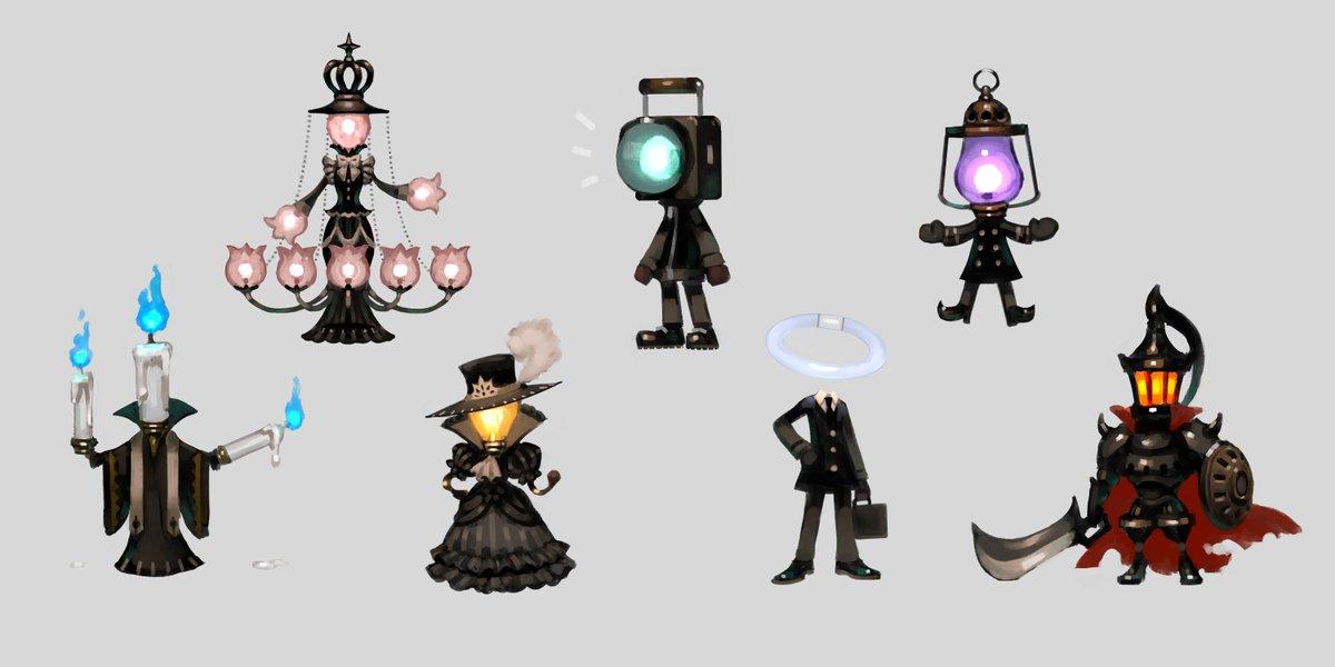 照明器具のラクガキを集めました ピカピカまぶしい達愉快な仲間達