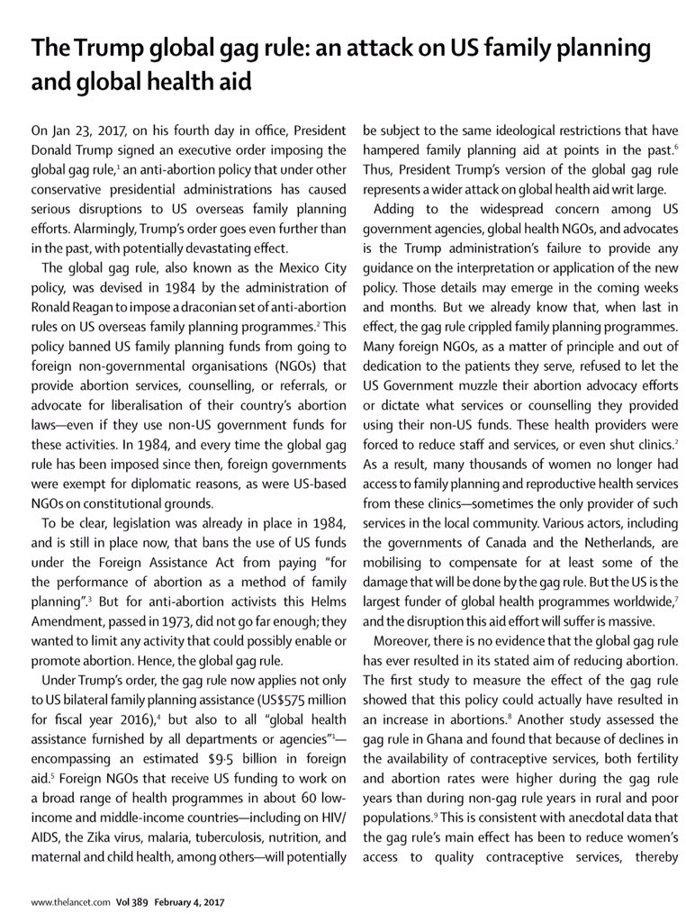 Lancet essay focus