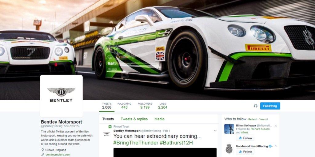 Follow @BentleyRacing for Bentley Boy updates this weekend from #Bathurst12hr