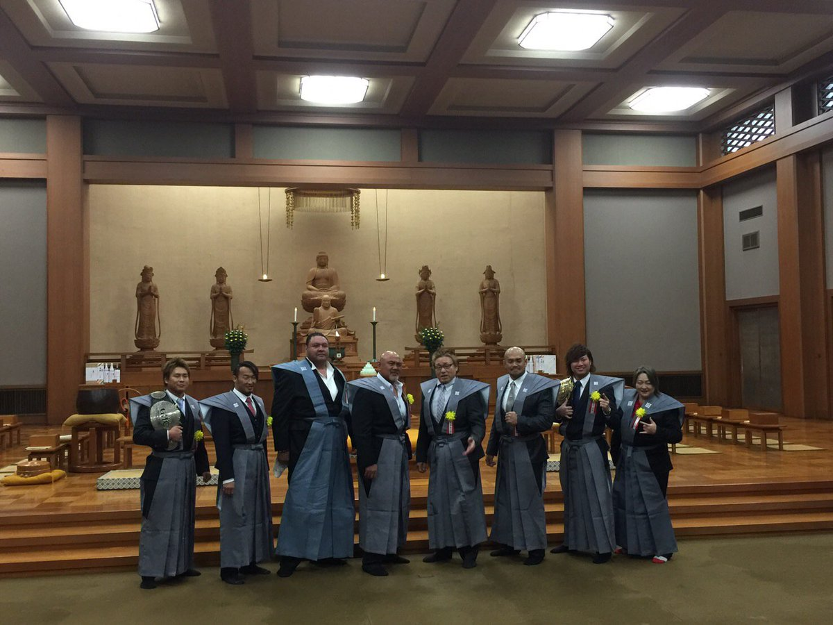 本日、池上本門寺にて行われました、節分追儺式法要・豆撒きに秋山準選手、宮原健斗選手が参加致しました。…