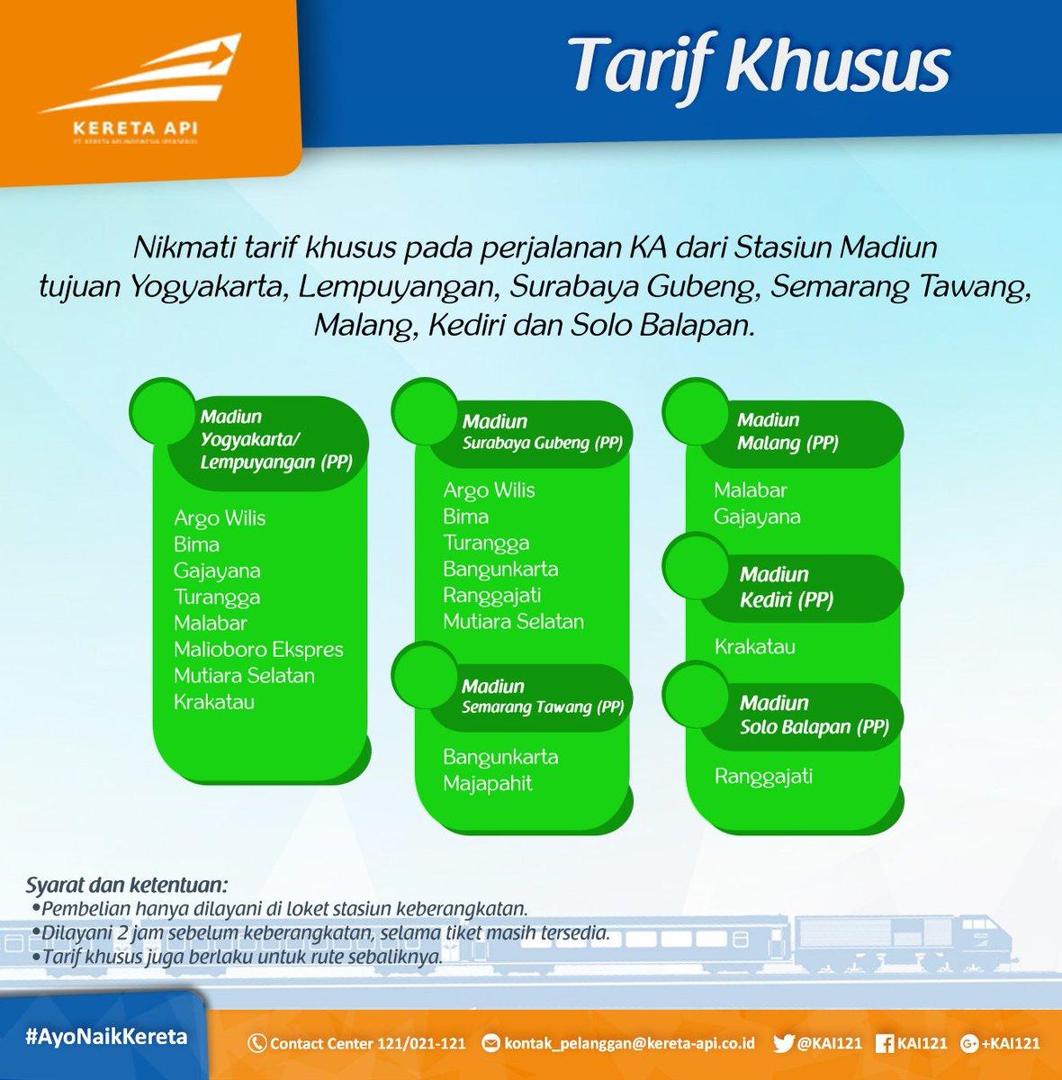kereta api indonesia on twitter tarif khusus untuk sahabatkai di rh twitter com