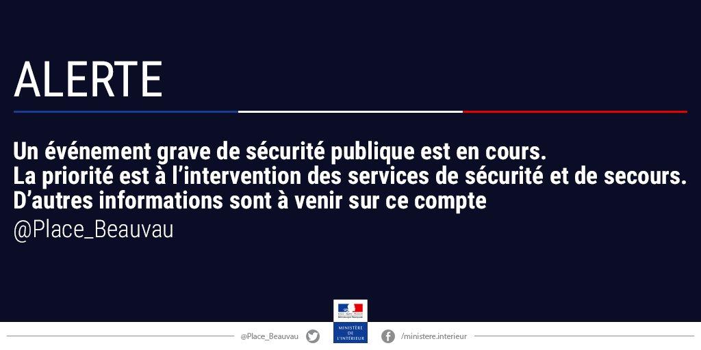 Evénement grave de #sécurité publique en cours à #Paris quartier du #Louvre, priorité à l'intervention des forces de sécurité et de secours